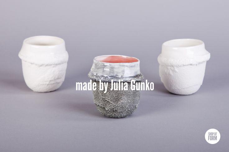 #HugMugs by Julia Gunko #ceramics #mugs #murushki #young #designers #Lodz #festival #design #shopofform #natural #porcelain