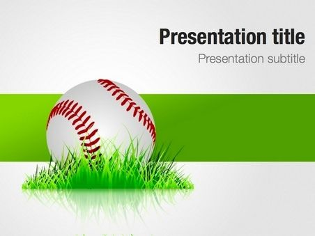 18 best keynote free templates images on pinterest keynote free baseball in the grass powerpoint template toneelgroepblik Image collections