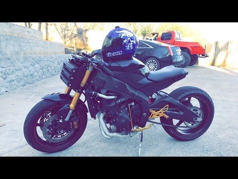 07 Yamaha R6 Custom Streetfighter Bike Build - Scorpion - - YouTube