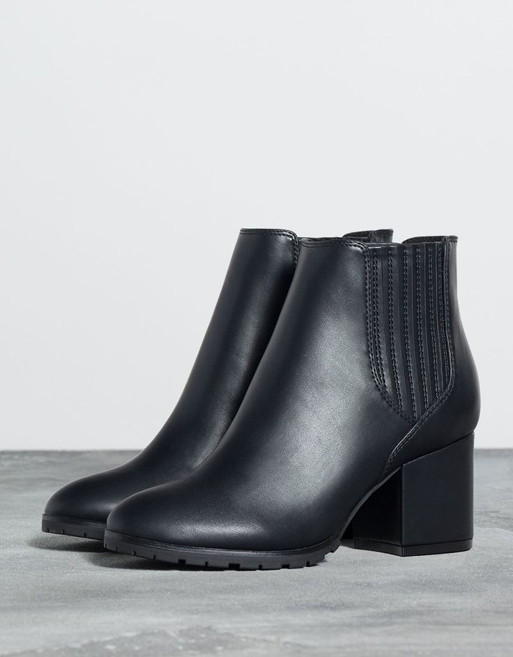 Bottines à talon moyen Bershka - Bottes et bottines - Bershka France