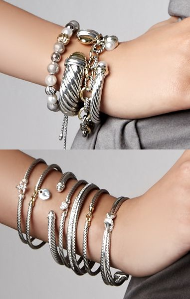 David Yurman bracelets.. i want