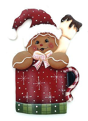 HP GINGERBREAD FRIDGE MAGNET christmas cup