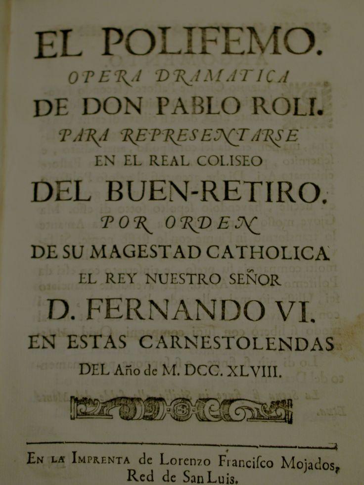 Polifemo y Galatea, 1748 #lagalatea www.lagalatea.es