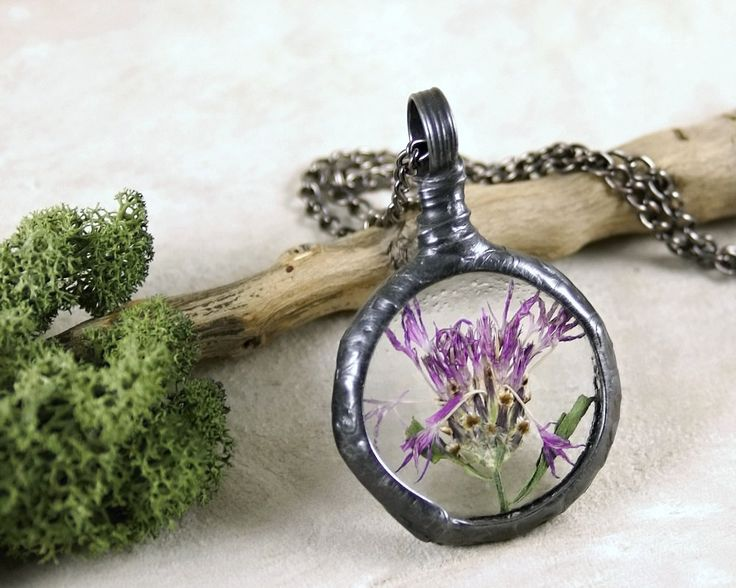 real plant necklace, botanical, dried plant, terrarium necklace, real flowers…