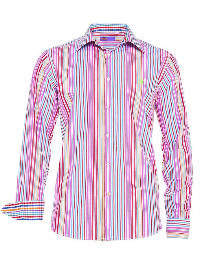 Men's multi- check shirt, available at www.46664fashion.com
