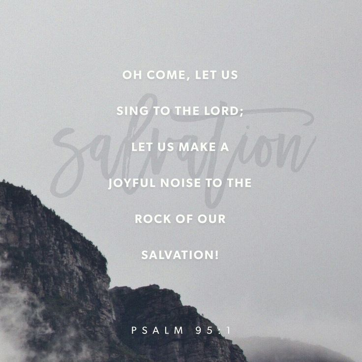 Come, let's shout praises to God , raise the roof for the Rock who saved us! Let's march into his presence singing praises, lifting the rafters with our hymns! Psalm 95 MSG http://bible.com/97/psa.95.1-2.MSG