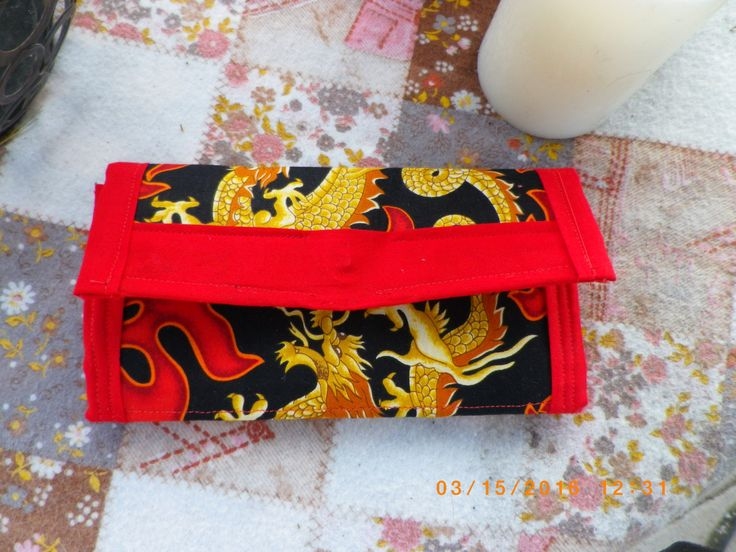 Dragon Blaze Wallet, wallet, fabric, handmade, dragon, bold, change purse by ExquisiteArtDesigns on Etsy
