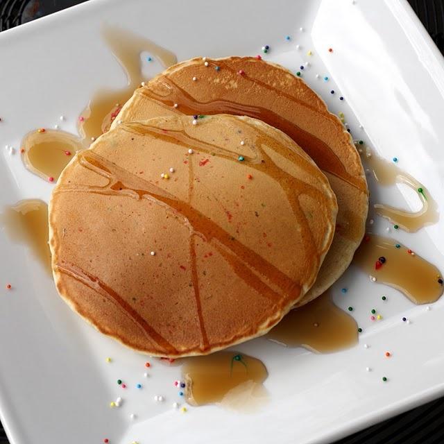 Cake batter pancakes | Food - Recipes | Pinterest