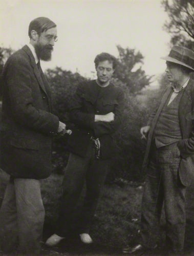Lytton Strachey, Duncan Grant and Clive Bell, 1922