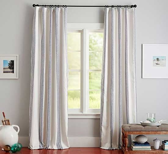 Curtains are a must for dressing windows.