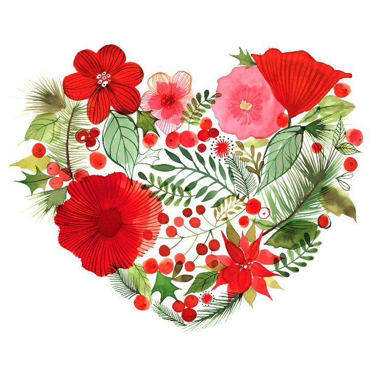 Christmas Heart by © Margaret Berg www.margaretbergart.com