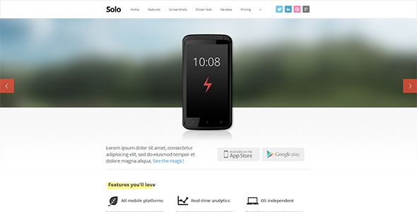 Solo - ThemeForest Item for Sale