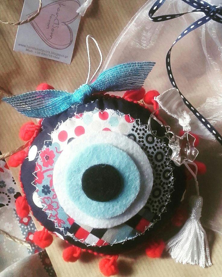 Favor#fabric#felt#cat's eye#handmade#softies#birth#baby shower#baptism#christening#gift