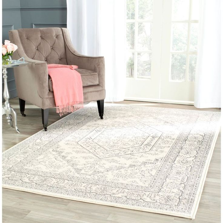 Safavieh Adirondack Collection Adr108b Ivory And Silver Square Area Rug