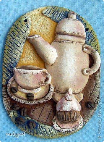 Поделка изделие Лепка Ещё букетики и кофе к завтраку Гуашь Тесто соленое фото 9