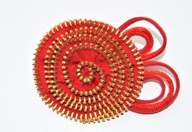 Broche de cremallera: De Cremallera, Zippers Art, Felt Spring, Bijuterias Artesanais, Con Zippers, Broche De, Zippers Cremallera, Flowers, C Bez