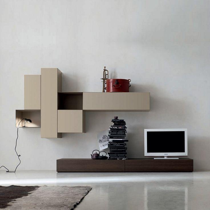 Contemporary Italian TV media unit Grey by Santa Lucia | Sala ...