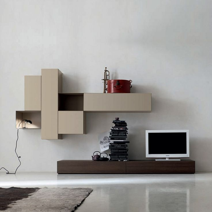 Contemporary Italian TV media unit Grey by Santa Lucia | untis ...