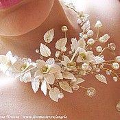 Свадебный салон ручной работы. Ярмарка Мастеров - ручная работа Колье с орхидеями, усовершенствованный вариант. Handmade.