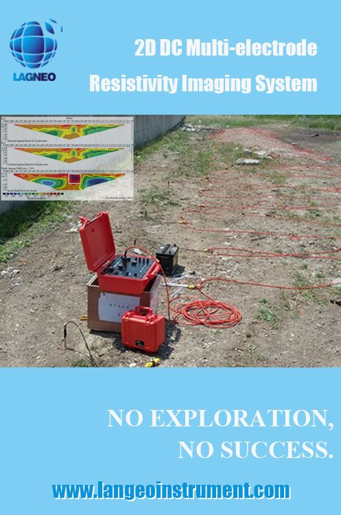 LANGEO: WERT-120 2D Resistivity tomography method is widly used for city engineering exploration, mineral resource investigation, underground water exploration,environmental monitoring, landslide and so on -www.langeoinstrument.com