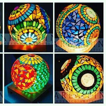 Seminario de luminarias en mosaico