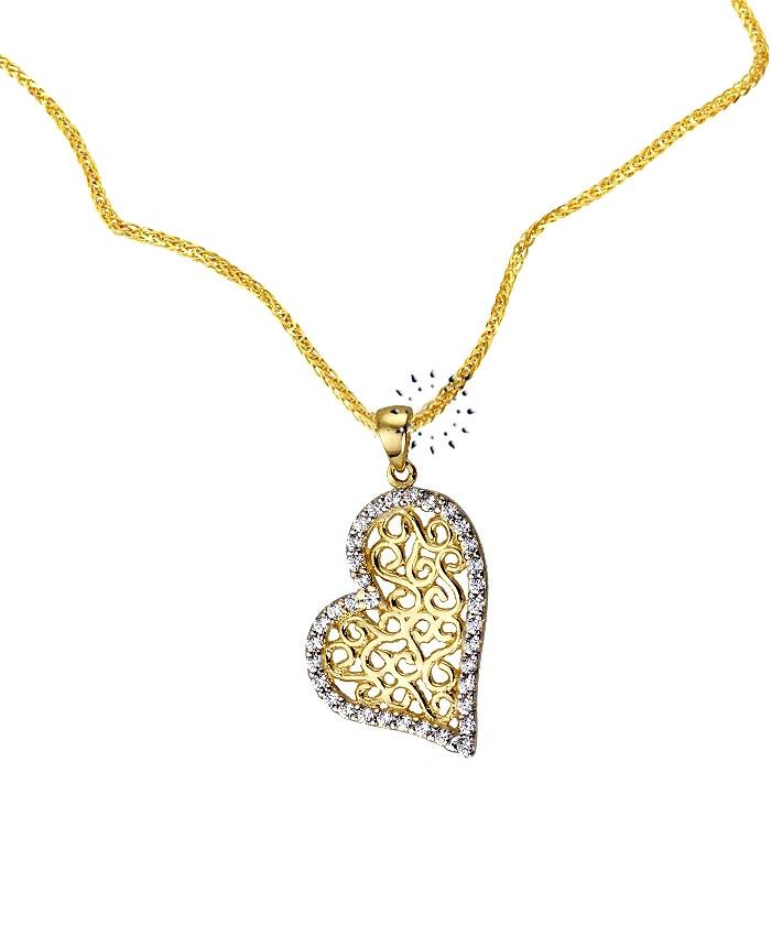 Κρεμαστό Καρδιά 14 καράτια Xρυσό σε σχήμα  265€  http://www.kosmima.gr/product_info.php?products_id=10547
