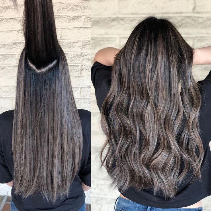 Blending and Tone Ash brunette Color by @andrewlovescolor #longhairdontcare @tru
