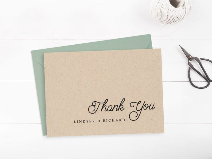 Printable wedding thank you card template, Editable text and color, Rustic thank you card, INSTANT DOWNLOAD, Edit in Word or Pages by PaperDainty on Etsy https://www.etsy.com/ca/listing/229483786/printable-wedding-thank-you-card