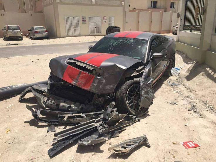 Crash Ford Mustang GT500