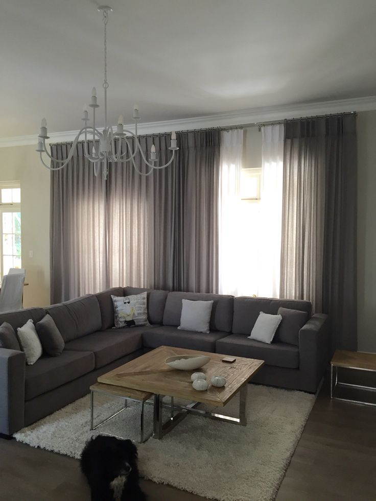 Beautiful Linen Sheer Curtains On Stainless A Steel Rod