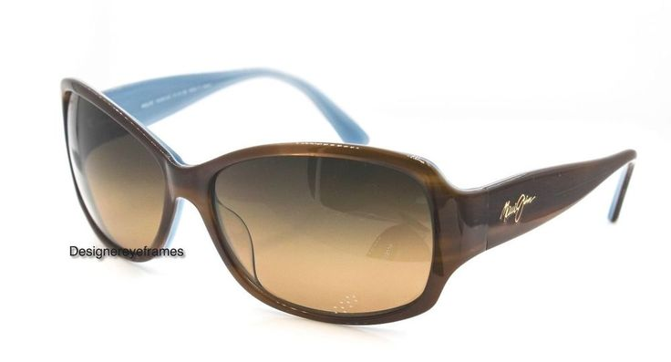MAUI JIM Nalani MJ295 03T Tort/White & Blue Polarized SUNGLASSES AUTH NWC MJ295 #MauiJim