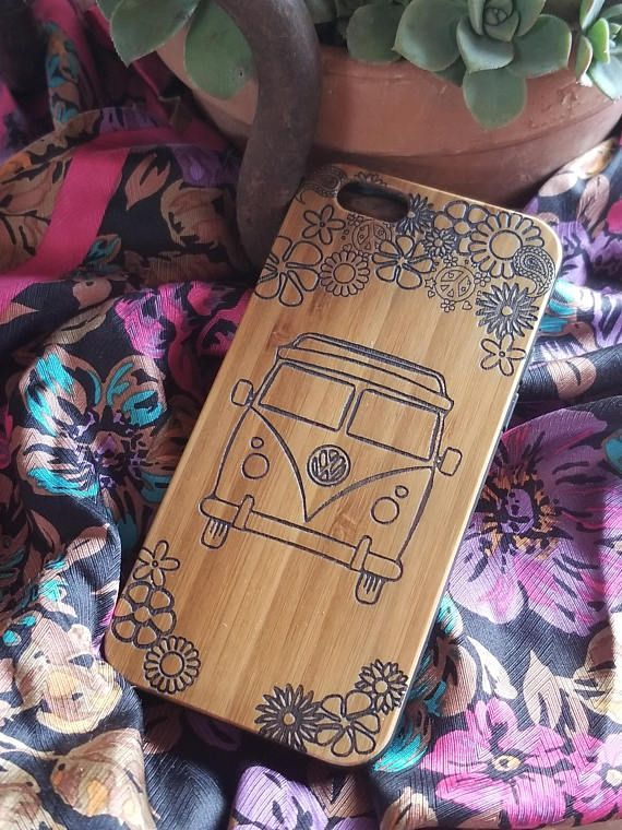 Hippie VW Bus bamboo wood iPhone case for iPhone 6 iPhone 6s