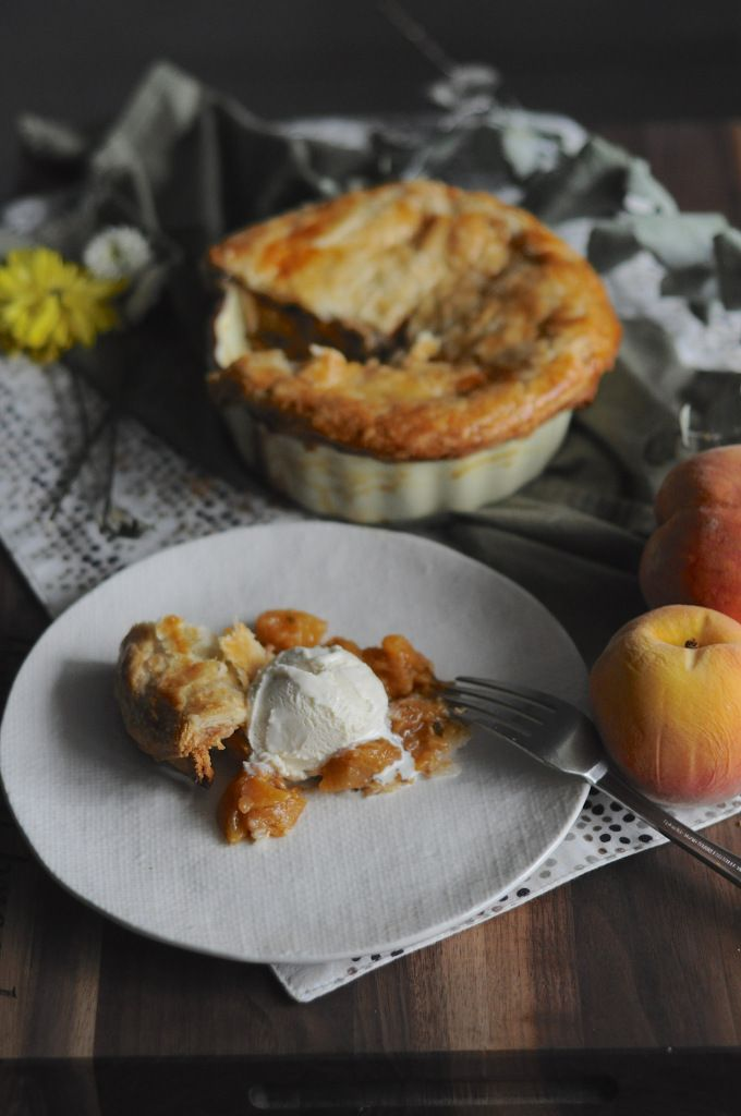 peach basil & mint pie