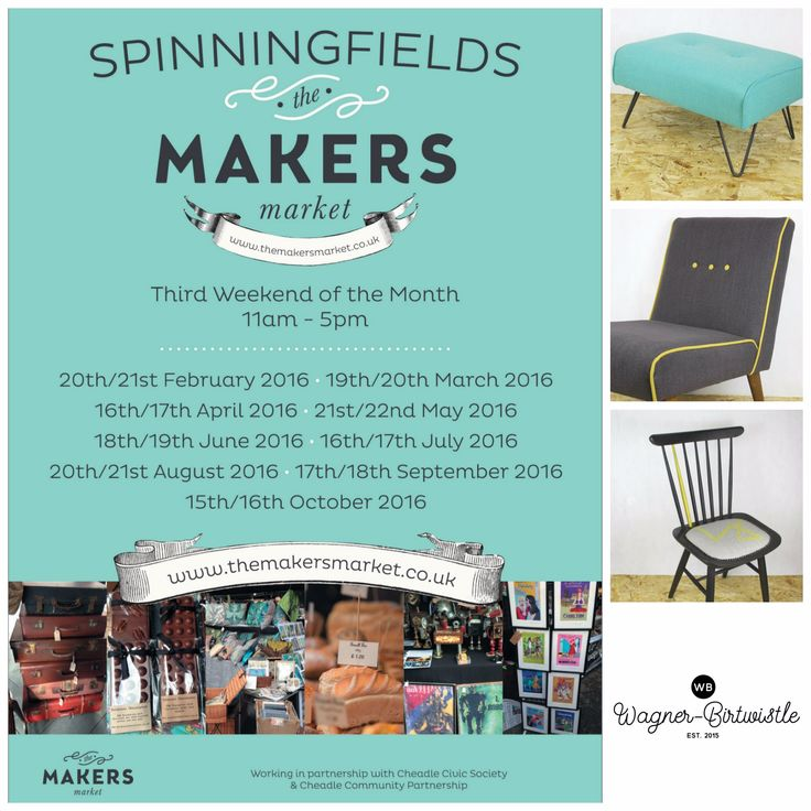 Spinningfields Makers Market in Manchester.  The third weekend of every month