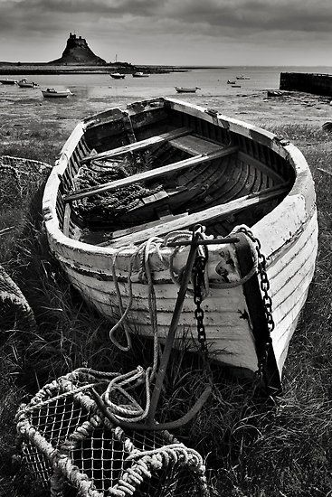 Old boat and lobster potsOld Boats, Lindisfarne Castles, Islands Prints, Fish Boats, Fishing Boats, Dave Lawrance, Art Prints, Lobsters Pots, Holy Islands