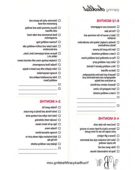 Backyard Wedding Planning Checklist Outdoor Goods