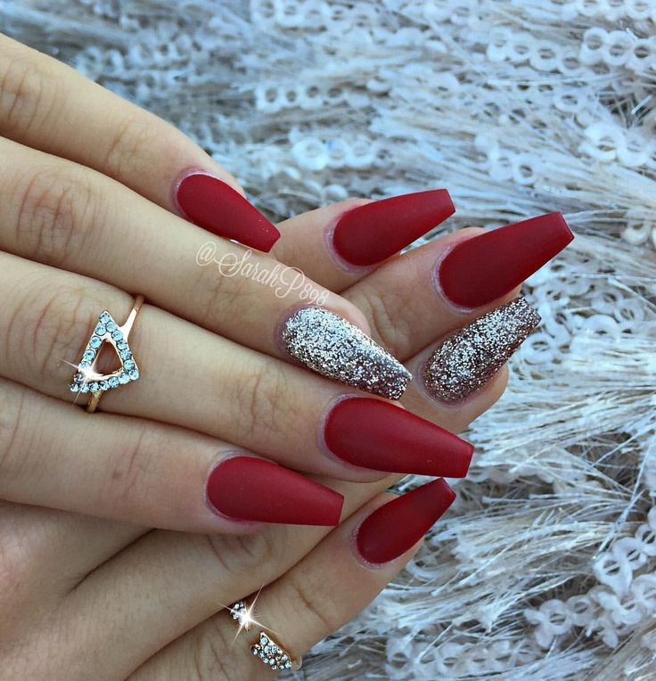 Elegant Silver Nails For Prom: Best 25+ Red Nails Ideas On Pinterest