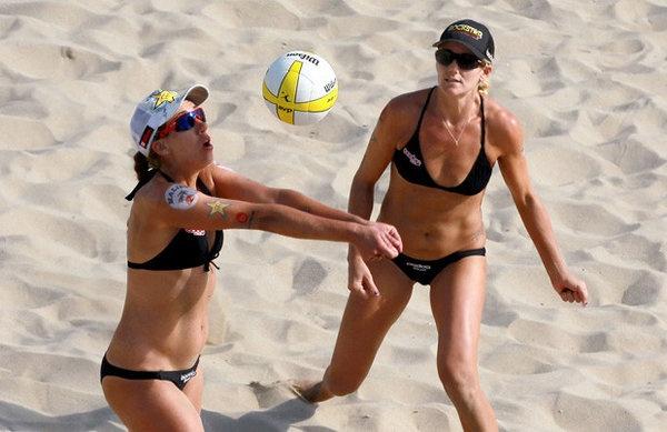 Larry bikini beach volley