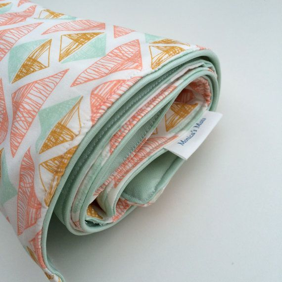 Portable Waterproof Baby Change Mat by MonicasMats on Etsy
