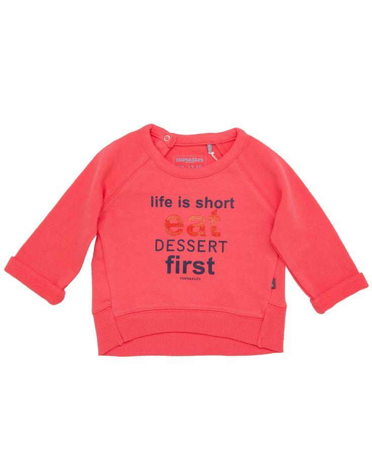 IMPS & ELFS Baby Girl 'Life is Short' Sweatshirt. Shop here: http://www.tilltwelve.com/en/eur/product/1061458/IMPS-ELFS-Baby-Girl-Life-is-Short-Sweatshirt/
