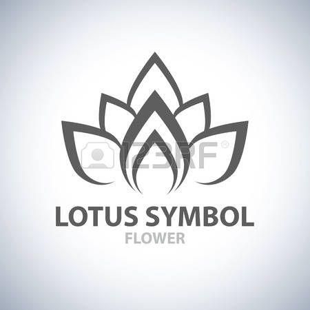 Lotus Symbool pictogram ontwerp. Vector illustratie photo