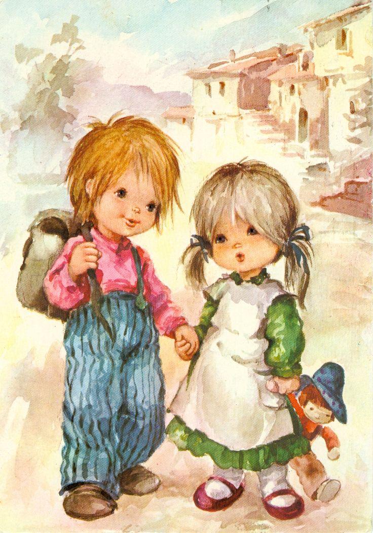 Девочка с мальчиком открытки, днем рождения мужчине