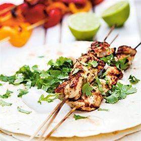 Kycklingspett med sydamerikanska smaker
