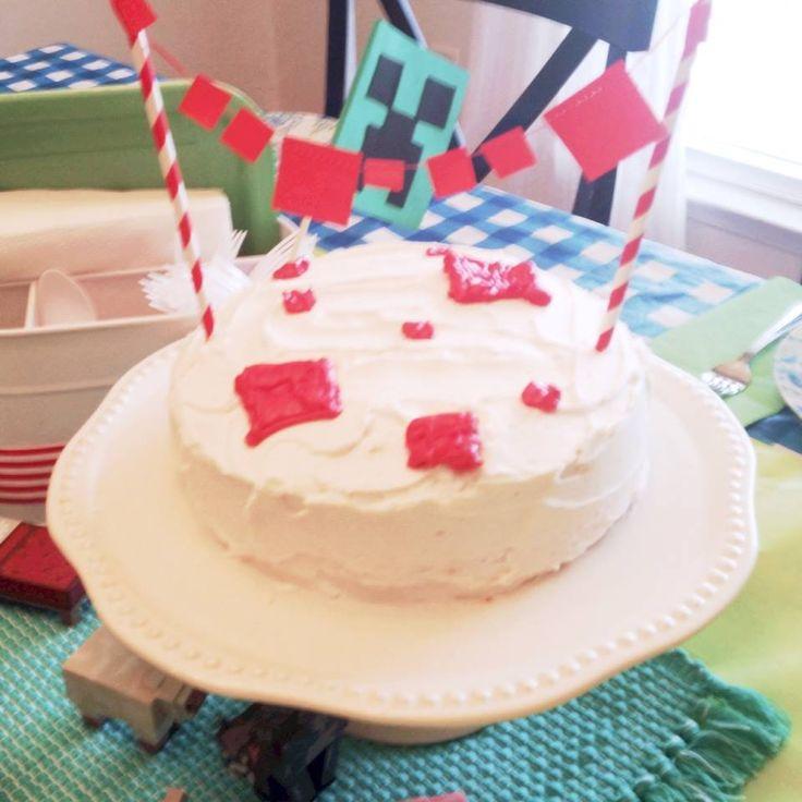 M s de 25 ideas incre bles sobre tartas caseras minecraft for Decoracion de tortas caseras