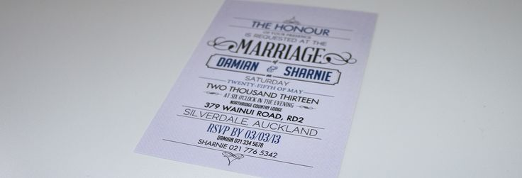 Vintage Text Invite - Back