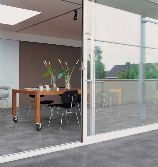 Unglazed #porcelain has a #nonslip texture which makes it ideal for  exterior #walkways and #terraces. #UnionTiles