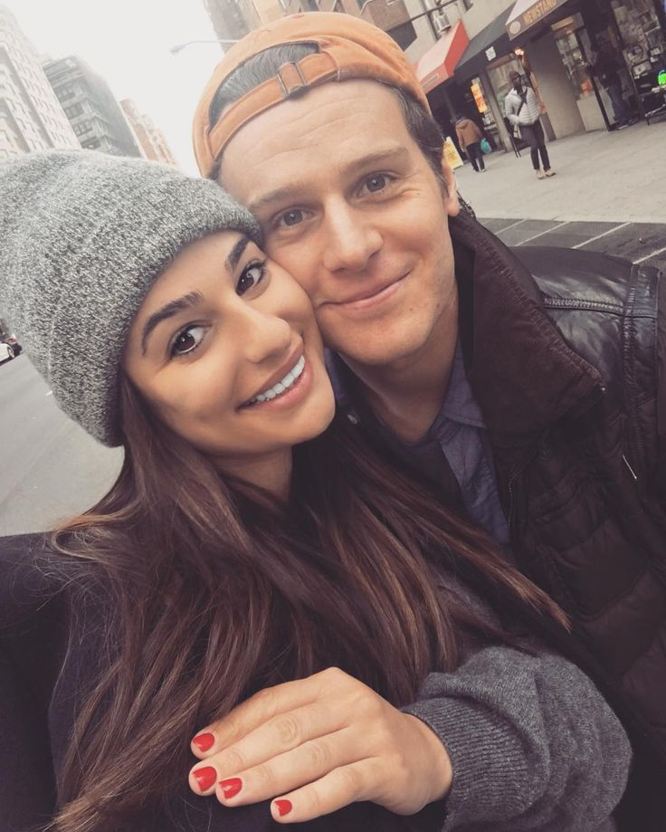 Lea Michele and Jonathan Groff