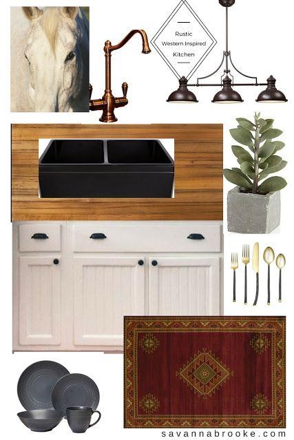 Rustic, Southwestern inspired farmhouse kitchen design