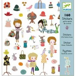 Djeco Stickers Little Fashion House