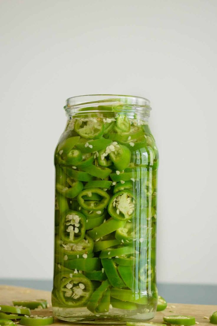 A jar of pickled chillies   chilli     chilli recipes     spicy recipes   #chilli #chillirecipes #spicyrecipes http://www.pulpstoryjuice.com/